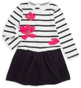 Catimini Little Girl's& Girl's Bi-Material Fit-&-Flare Dress