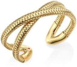 Roberto Coin Primavera 18K Yellow Gold Crisscross Cuff