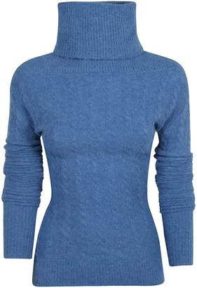 Jacquemus Turtleneck High Blue Neck Jumper