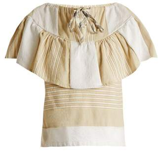Ace&Jig Clifton Striped Cotton Blend Top - Womens - Beige Multi