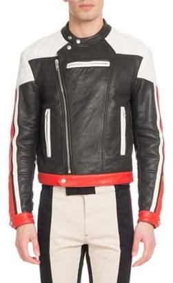 Givenchy Men's Leather Motocross Jacket
