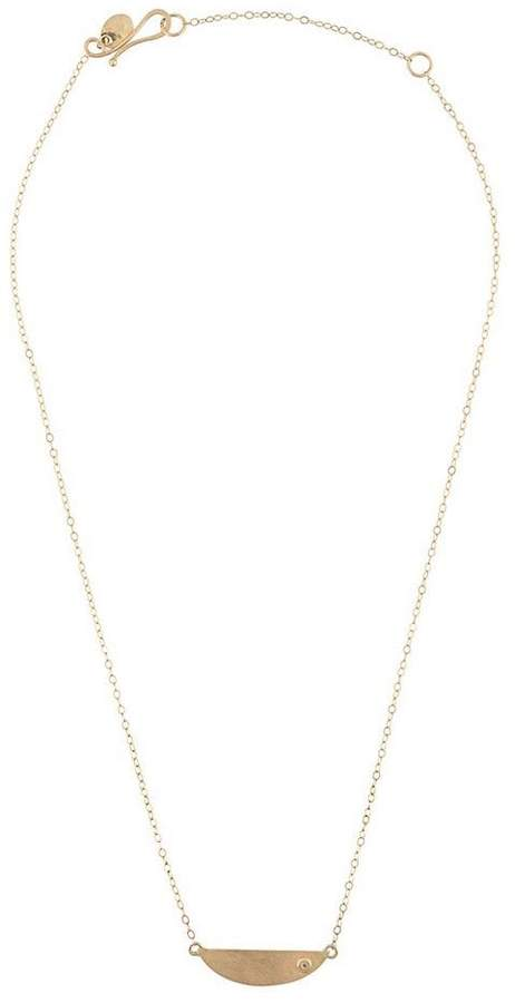 Melissa Joy Manning mini collar necklace with diamond detail