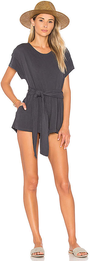 Free People Easy Street Wrapped Knit One Piece in Black