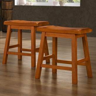"Weston Home Ashby Kitchen Stools 18"", Set of 2, Oak"