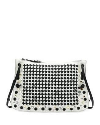 Bottega Veneta Zip Top Intrecciato Crossbody Bag