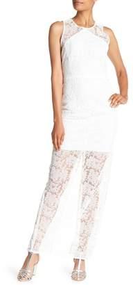 Diane von Furstenberg Sleeveless Lace Overlay Gown
