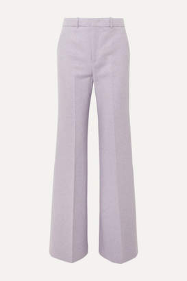 Joseph Jess Herringbone Wool-blend Bootcut Pants - Lilac
