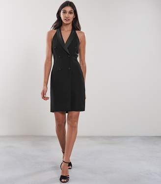 Reiss SINEAD SLEEVELESS TUXEDO DRESS Black