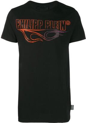 Philipp Plein Flame studded logo T-shirt
