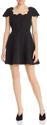 Aqua Scalloped Cap-Sleeve Dress - 100% Exclusive