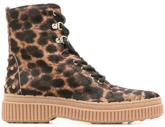 Tod's leopard print boots