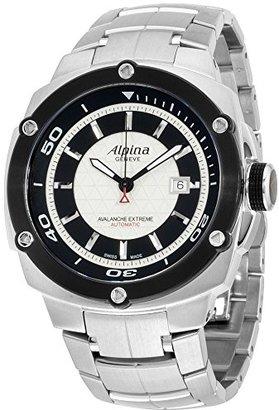 Alpina Avalanche Extremeシルバーダイヤルステンレススチールメンズ腕時計al525lsb5ae6b