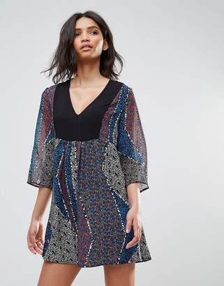 BCBGMAXAZRIA Printed Tunic Shift Dress