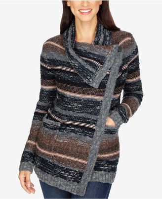 Lucky Brand Printed Draped Cardigan $129 thestylecure.com