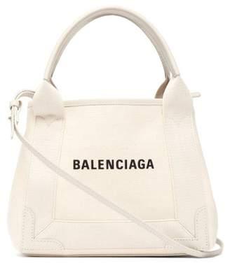 Balenciaga Cabas Xs Logo Print Tote Bag - Womens - Beige Multi