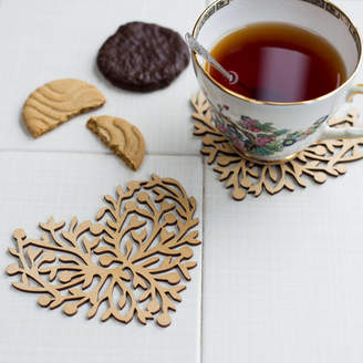 Natural Gift Store Leaves Of Love Coaster Set