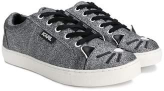 Karl Lagerfeld cat toe sneakers