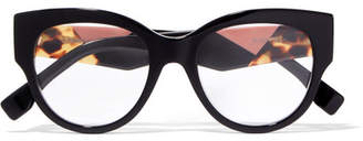 Fendi Facets Cat-eye Acetate Optical Glasses - Black
