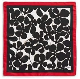 Echo Pop Floral Square Silk Scarf