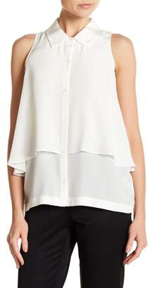 Robert Rodriguez Cold Shoulder Drape Blouse