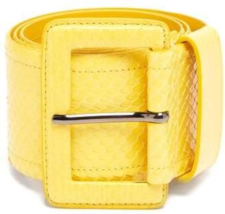 Carolina Herrera Watersnake Waist Belt - Womens - Yellow