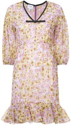 Giambattista Valli floral print peplum hem dress