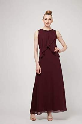SL Fashions Women's Sleeveless Bead Waist Maxi Dress