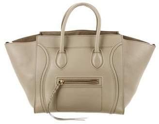 Celine Leather Medium Luggage Phantom