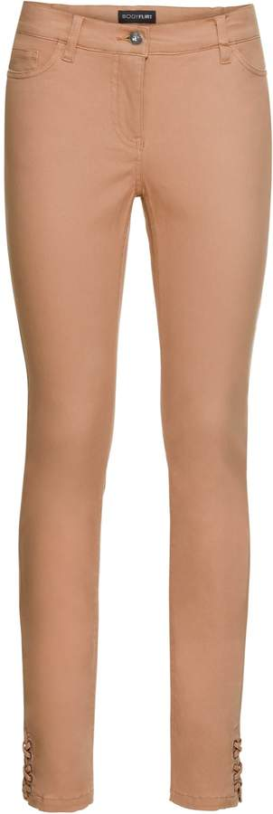 BODYFLIRT Skinny-Stretch-Hose mit Schnürung am Saum
