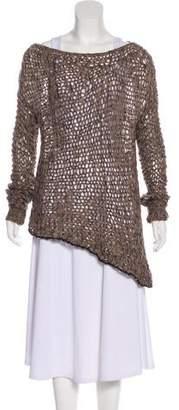 Helmut Lang Alpaca-Blend Asymmetrical Sweater