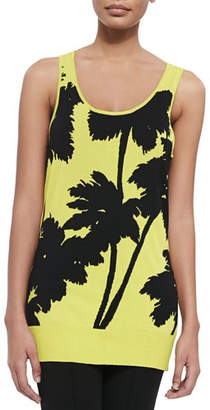 Berek Miami-Print Long Tank, Plus Size