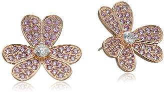 Kenneth Jay Lane CZ by Floral Round Floral Post Earrings