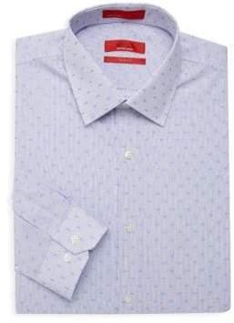 Saks Fifth Avenue RED Trim Fit Pinstripe Dress Shirt
