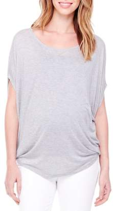 Ingrid & Isabel R Draped Maternity Tee