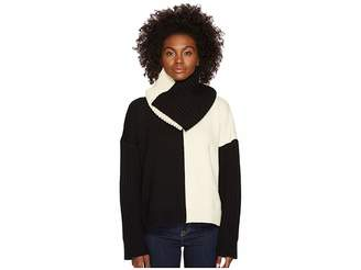 Sportmax Califfo Removable Infinity Neck Bias Block Sweater Women's Sweater