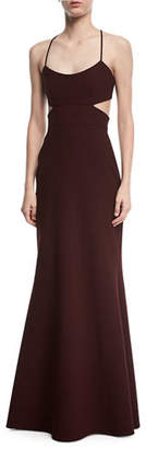 Jill Stuart Sleeveless Cutout Crepe Gown