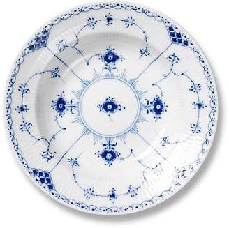 Royal Copenhagen Blue Half Lace Rimmed Soup Bowl - 8.25