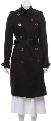 Burberry Fur-Lined Trench Coat