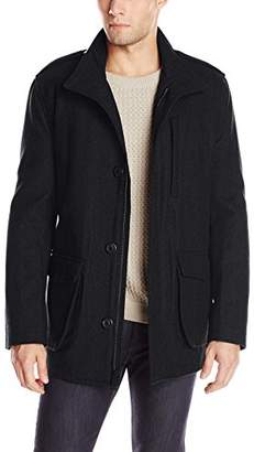 Andrew Marc Men's Terry Wool-Blend Field Coat