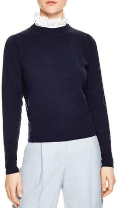 Sandro Salvator Ruffled Collar Sweater