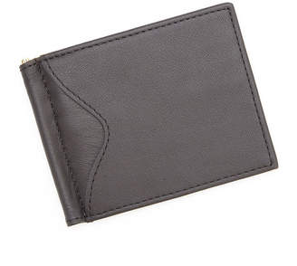 Royce Leather Royce Cash Clip Leather Wallet with Outside Pocket
