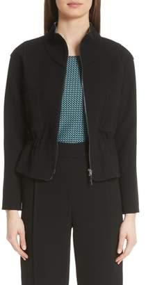 Emporio Armani Gathered Elastic Waist Jacket