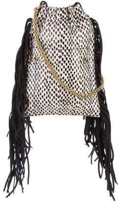 Jerome Dreyfuss Mini Python Fringe Bucket Bag