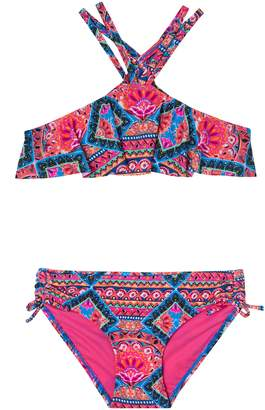 Gossip Girl Mixed Print Two-Piece Swimsuit