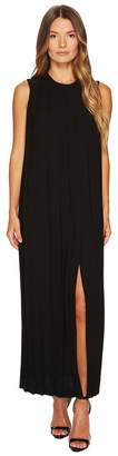 Neil Barrett Sable' + Fine Gabardine Sleeveless Pleated Dress Women's Dress