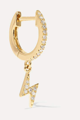 STONE AND STRAND - 14-karat Gold Diamond Hoop Earring