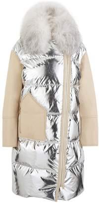 Yves Salomon Lambskin winter coat