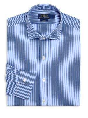 Ralph Lauren Slim-Fit Estate Striped Dress Shirt