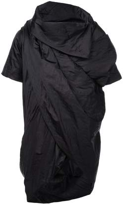 Rick Owens draped short sleeve jacket