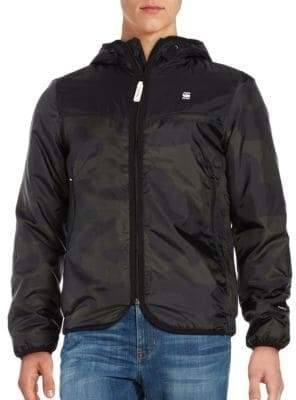 G Star Hooded Camouflague Jacket